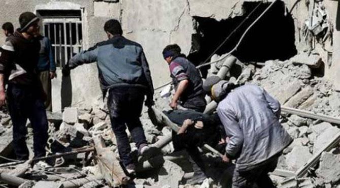 شام: امریکی اتحادی فوجیوں کا فضائی حملہ، شہریوں سمیت 54 'داعش جنگجو' ہلاک