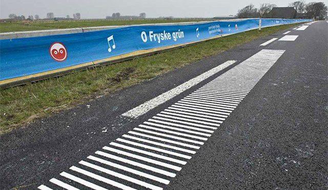 ہالینڈ میں گنگنانے والی سڑکیں تیار