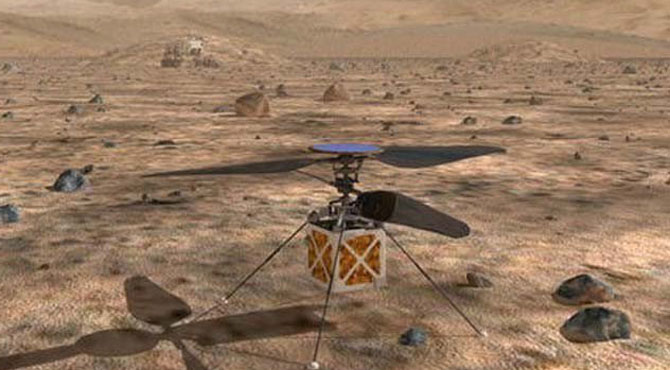 ناسا کا مریخ پر ہیلی کاپٹر بھیجنے کا اعلان