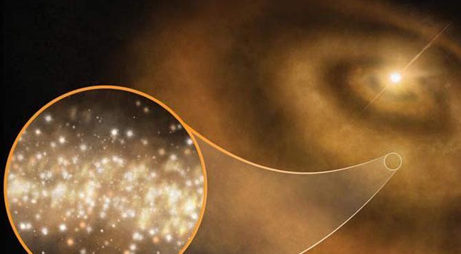 ہیروں سے بھرے خلائی بادل، پراسرار روشنی کی وجہ قرار