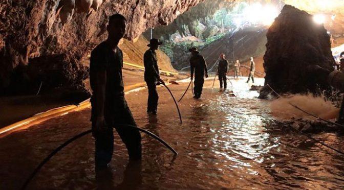 تھائی لینڈ کے غار میں پھنسے تمام بچوں کو نکال لیا گیا