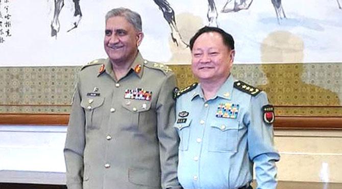 آرمی چیف کی چینی وائس چیئرمین ملٹری کمیشن سے ملاقات، پاکستان سے تعاون بڑھانا چاہتے ہیں: چینی جنرل کا عزم