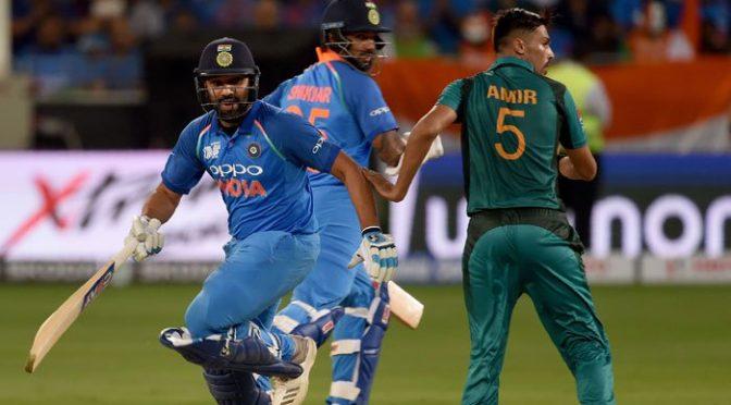 پاکستان کے 163 رنز کے تعاقب میں بھارت کا اچھا آغاز