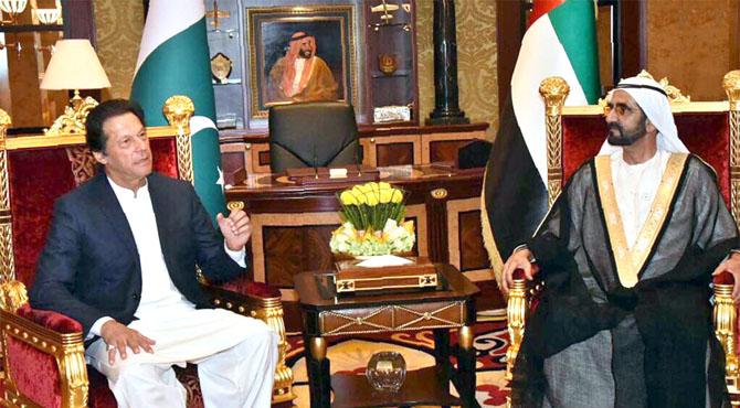 عمران خان کے شاہی محل پہنچنے پر گارڈ آف آنر، ولی عہد اور مسلح افواج کی ڈپٹی سپریم کمانڈدر سے ملاقات ، شیخ زید نے دورہ پاکستان کی دعوت قبول کر لی ، اقتصادی شراکت ، تجارت ، سرمایہ کاری پر اتفاق