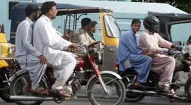 سندھ بھر میں 20 ربیع الاول تک ڈبل سواری پر پابندی عائد