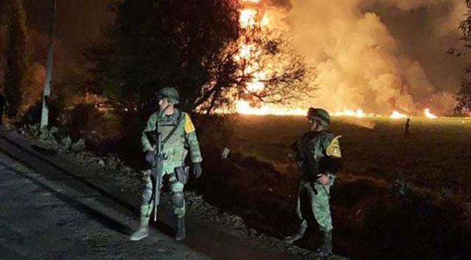 میکسیکو میں پٹرول پائپ لائن دھماکے میں 66 افراد ہلاک، 71 زخمی