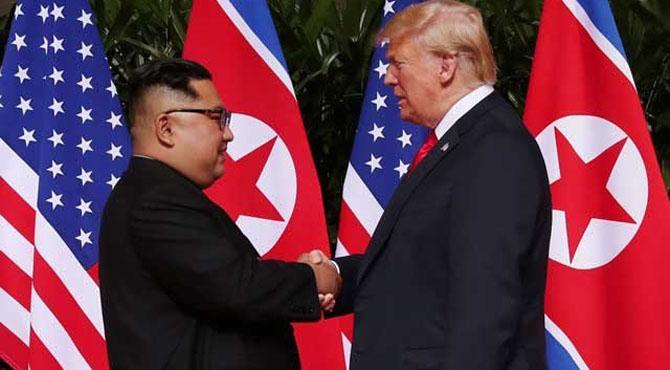 ٹرمپ اور شمالی کوریا کے رہنما کم جانگ کی آئندہ ماہ ملاقات ہوگی