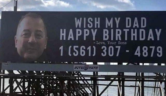بیٹے نے باپ کی سالگرہ کا پوسٹر لگایا، والد کو پوری دنیا سے کال موصول