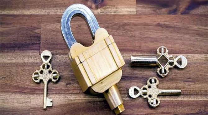 تین چابیوں سے کھلنے والا منفرد تالہ