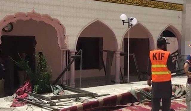 کوئٹہ ،مسجد میں بم دھماکہ متعدد افراد زخمی