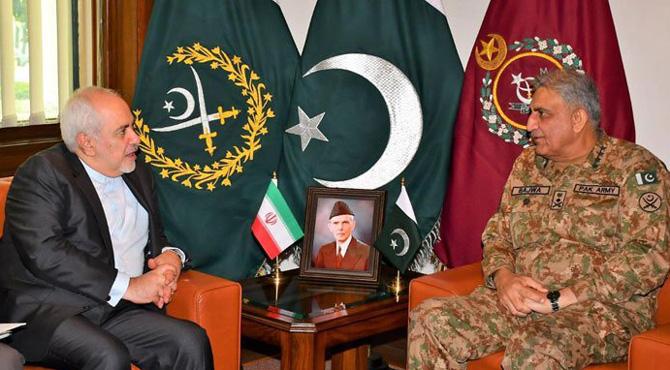 ایران جنگ میں پاکستان کی کیا حکمت عملی ہو گی،آرمی چیف کی ایرانی وزیرخارجہ سے ملاقات