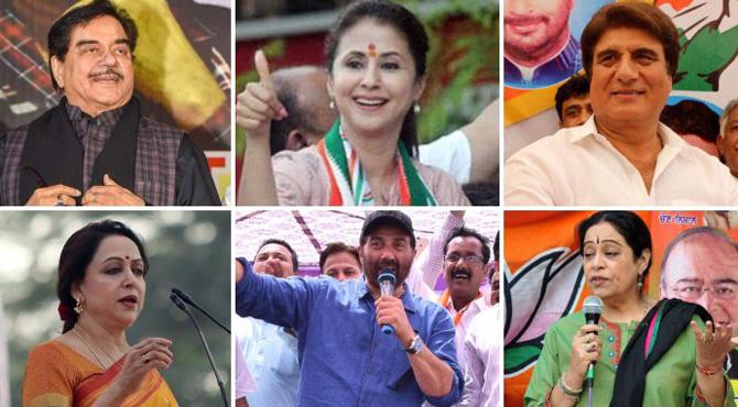 بھارتی انتخابات میں کامیابی کی دوڑ میں شامل شوبز شخصیات