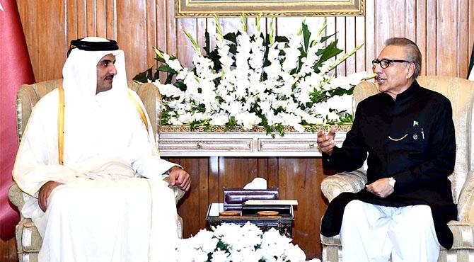 صدر مملکت سے ملاقات ، بھاری سرمایہ کاری ، پاکستانیوں کو روزگار دینگے : امیر قطر