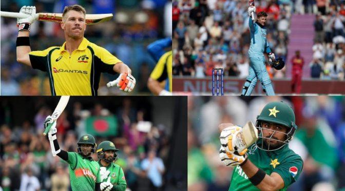 عالمی کپ ،کوئی پاکستانی بلے باز ٹاپ ٹین میں جگہ نہ بنا سکا