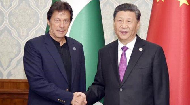 بشکک: وزیراعظم عمران خان اور چینی صدر شی جن پنگ کی ملاقات