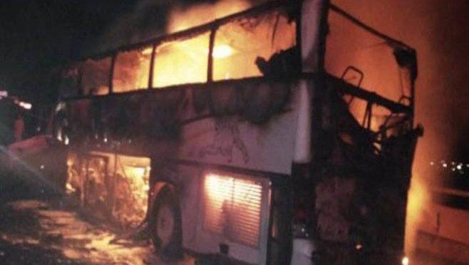 مدینہ منورہ کے قریب بس حادثے کے نتیجے میں 35 غیرملکی مسافر جاں بحق،4 زخمی