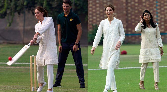 کیٹ مڈلٹن کے پاکستانی لباس کے ساتھ چھکے چوکے