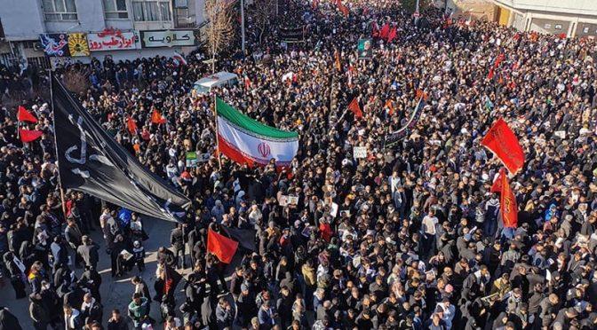 ایران: جنرل قاسم سلیمانی کی تدفین کےدوران بھگدڑ، 40 افراد ہلاک