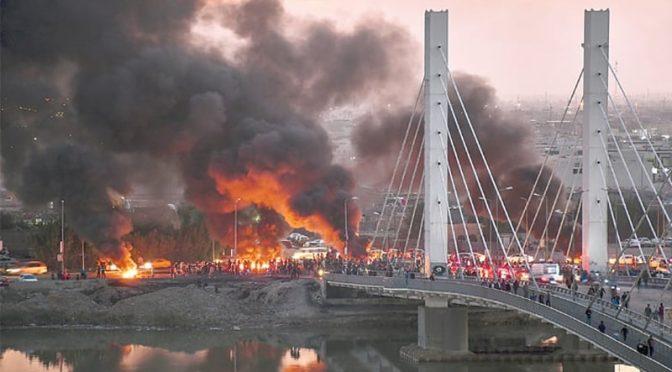 عراق: حکومت مخالف مظاہروں میں شدت آگئی