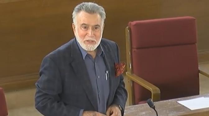 سابق گورنر و رکن بلوچستان اسمبلی سید فضل آغا کا کورونا کے باعث انتقال ہو گیا