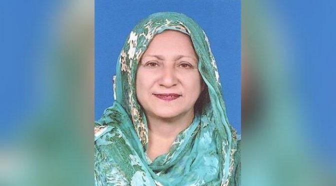 گوجرانوالہ سے پاکستان تحریک انصاف کی رکن پنجاب اسمبلی شاہین رضا کا کورونا وائرس سے انتقال