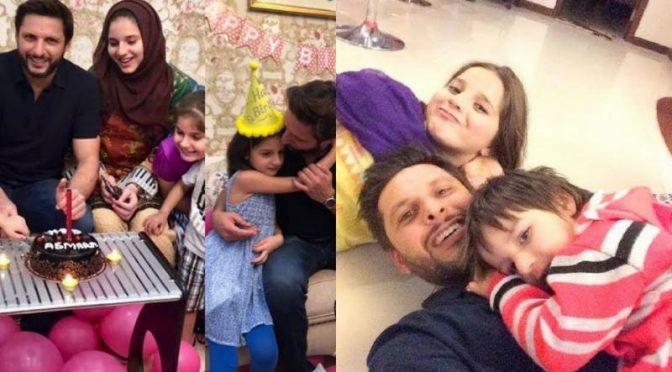 آفریدی کی بیٹی اسمارہ کی8 ویں سا لگرہ،سو شل میڈیا پر مداحوں کی مبارکبادیں