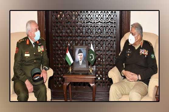 اردن کیساتھ دفاعی شعبے میں تعاون بڑھانا چاہتے ہیں :آرمی چیف