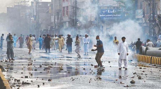 ملک کے مختلف حصوں میں ٹی ایل پی کے احتجاجی مظاہرے دوسرے روز بھی جاری